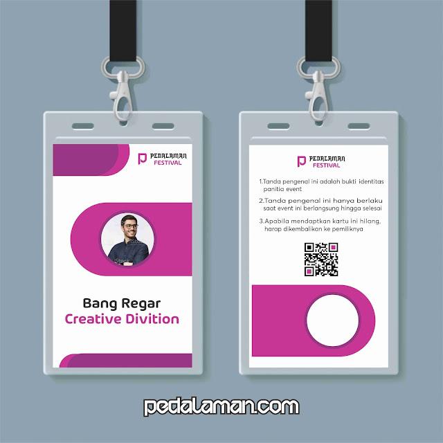 Membuat desain id card panitia