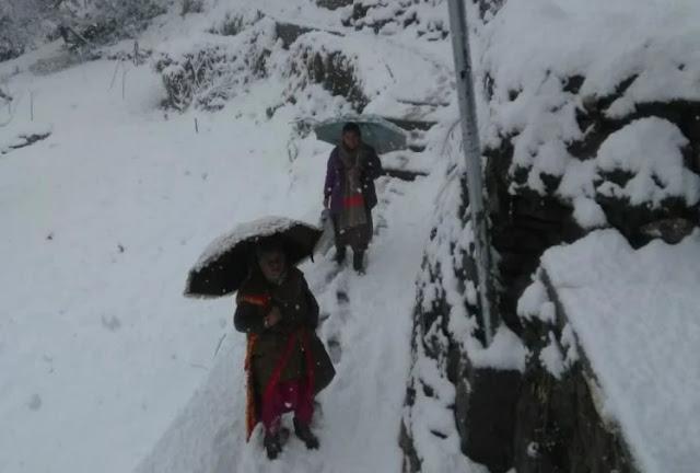 manali fresh snow