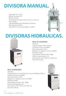 Divisoras manuales e hidraulicas
