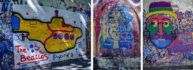 O Muro Lennon, em Praga