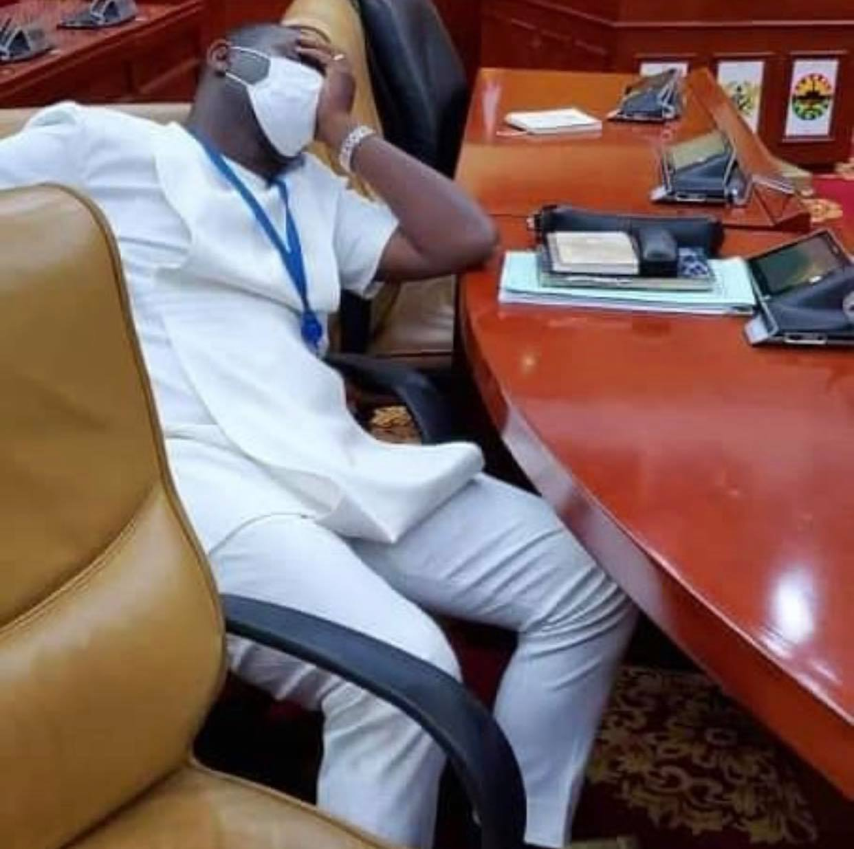 npp%2Bmps1 - Photos Of NPP MP Sleeping In Parliament After Reporting 4am To Take Over Majority Seat Pops Up
