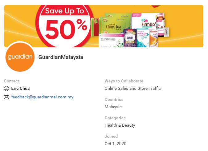 CPAS retail partner: Guardian