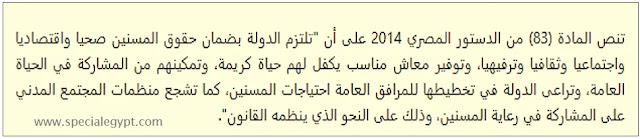 رعاية المسنين فى الدستور المصرى