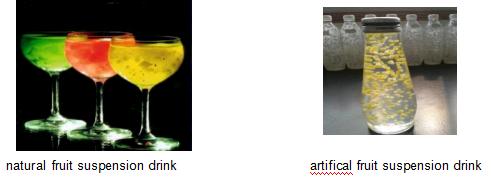 Gellan Gum Used in Suspension Fruit drinks