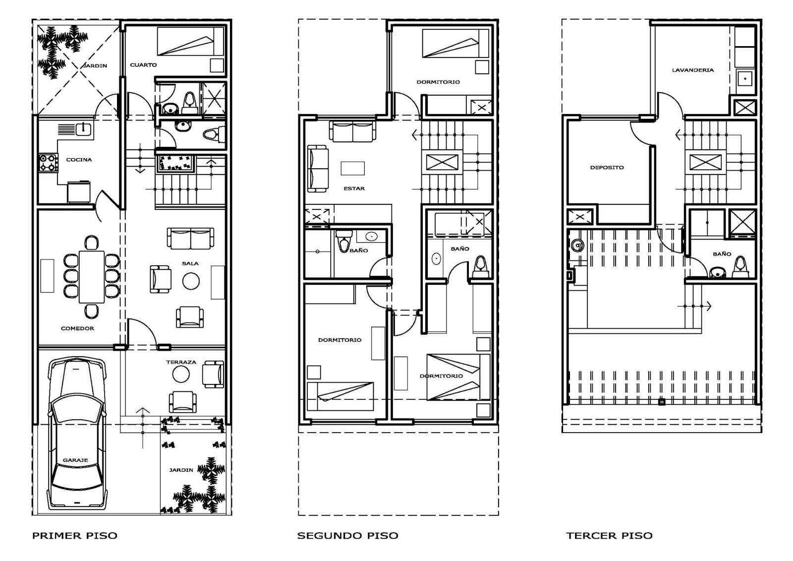 Planos De Viviendas Para Descargar Casa En Terreno De 6x15