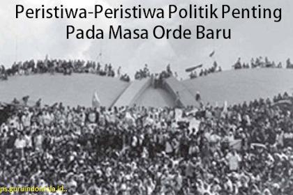 Peristiwa-Peristiwa Politik Penting Pada Masa Orde Baru