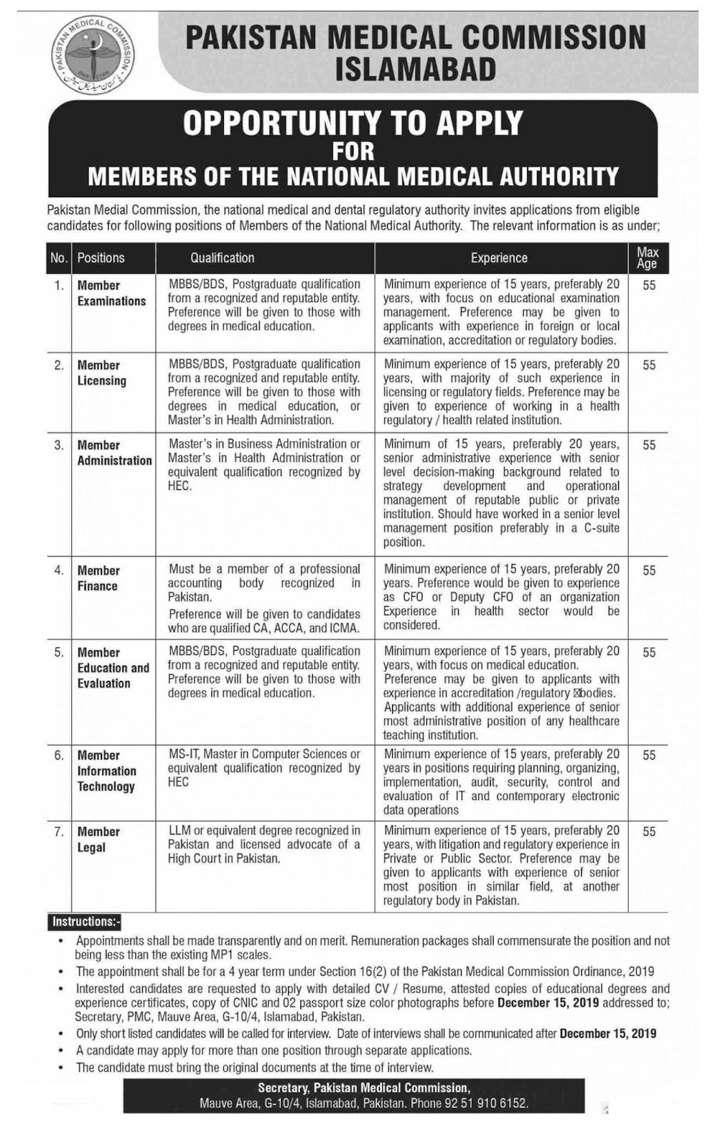 Jobs In PMC Govt Of Pakistan
