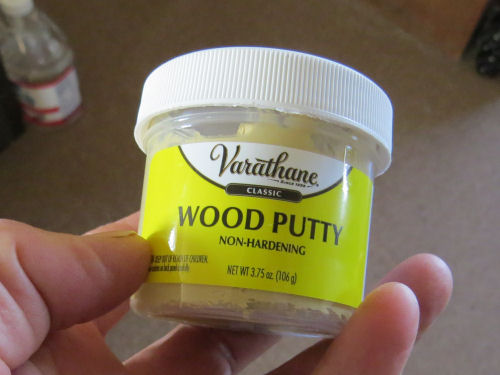 non-hardening wood putty