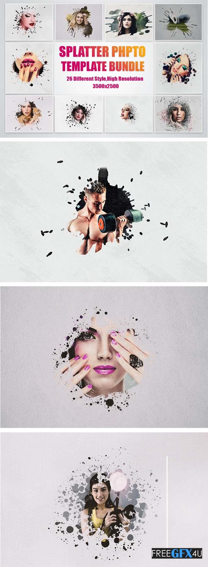 Splatter Photo Template Pack