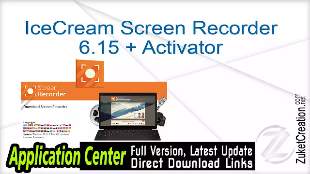 Icecream Screen Recorder Pro 5.92 + Crack    | 54 MB