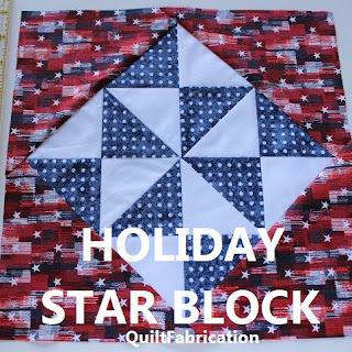 HOLIDAY STAR-QUILT BLOCK TUTORIAL-HOURGLASS BLOCK