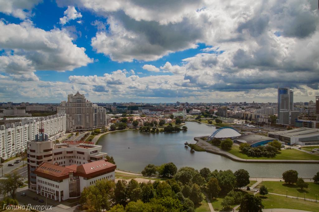 Вид с Гостиницы Беларусь фото