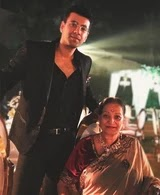 Karanvir Sharma with her mother