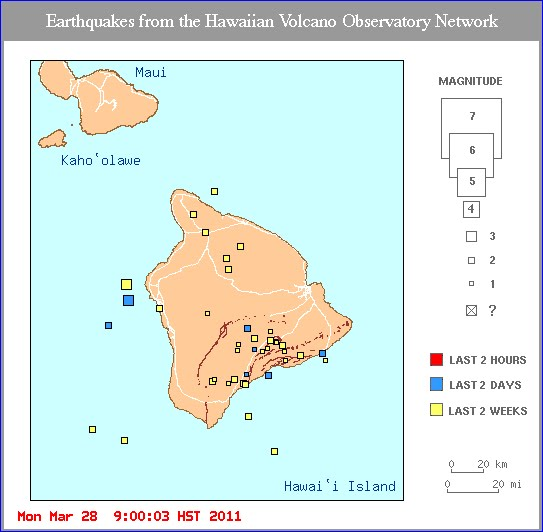 earthquake map recent activity