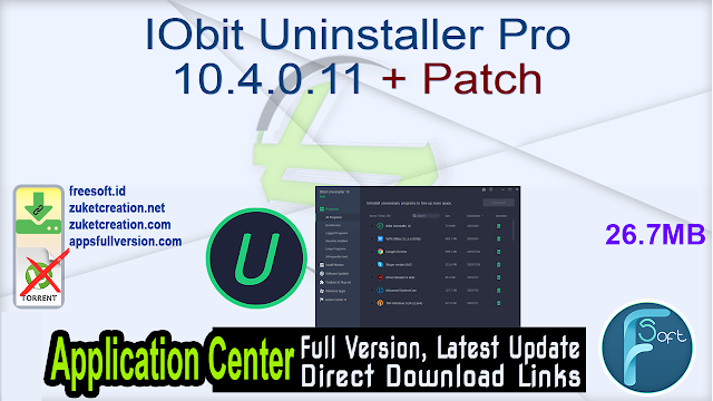 IObit Uninstaller Pro 10.4.0.11 + Patch