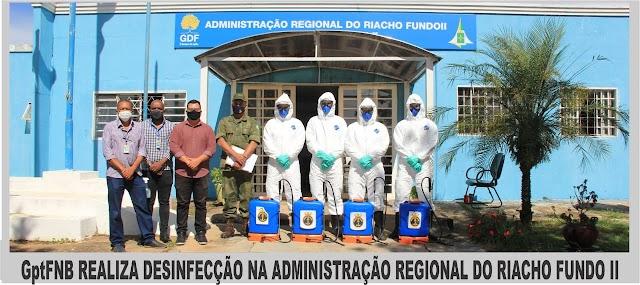 O Riacho Fundo II recebe ações de sanitização no combate ao coronavírus.