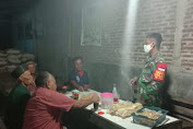 Cipta Kondisi Aman, Babinsa Bolong Patroli Malam di Wilayah Binaannya