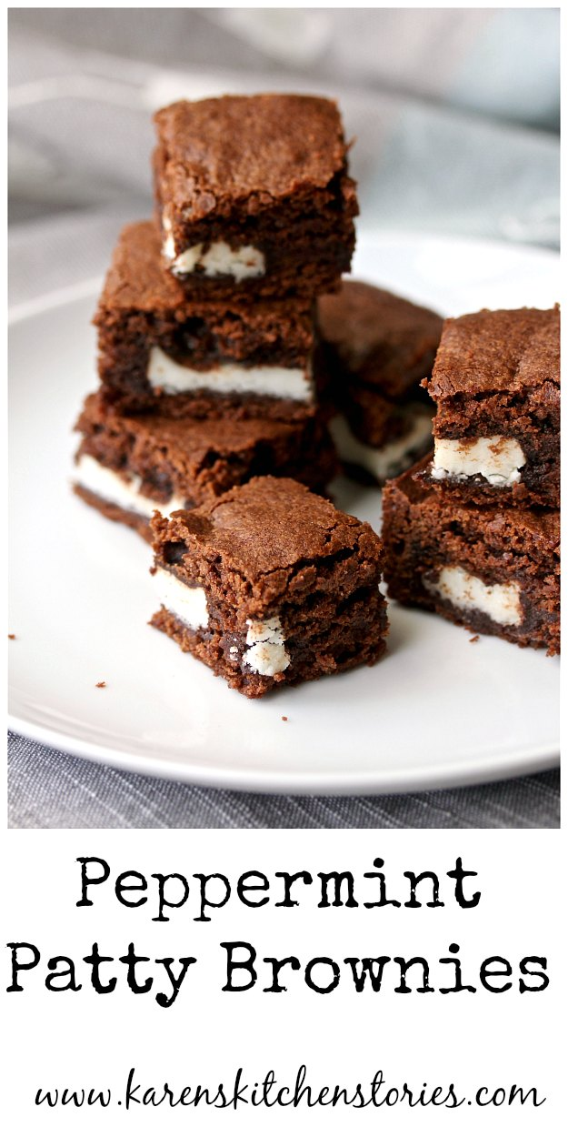 Surprise inside Peppermint Brownies #brownies #chocolate