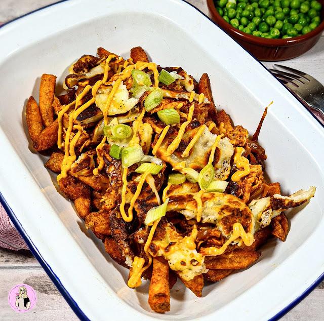 Nandos loaded fries recipe, low calorie recipe, low calorie meals, low calorie dinner, slimming food