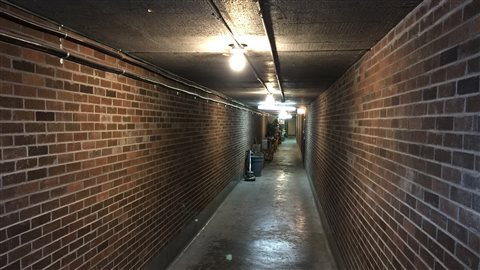 The tunnel of the former St. Joseph Hospital