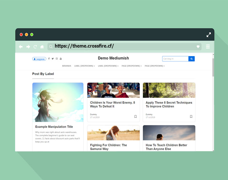 Mediumish Blogger and Wordpress Template Similar to Medium Download FREE 100% - Responsive Blogger Template