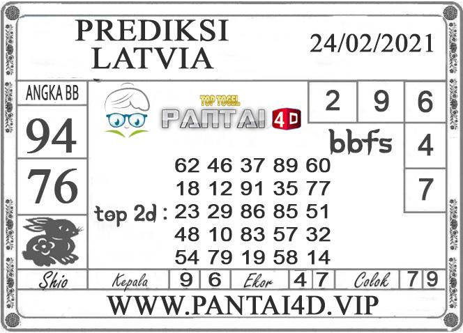PREDIKSI TOGEL LATVIA PANTAI4D 24 FEBRUARI 2021