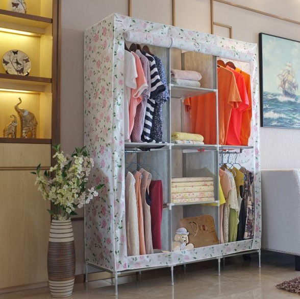 IDEAS FOR RECYCLING ANRIQUE WARDROBE WITH FABRIC