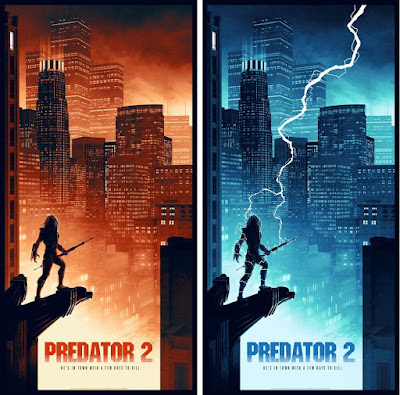 New York Comic Con 2018 Exclusive Predator 2 Movie Poster Screen Prints by Matt Ferguson x Bottleneck Gallery