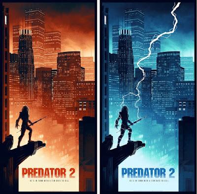 New York Comic Con 2018 Exclusive Predator 2 Movie Poster Screen Prints by Matt Ferguson x Bottleneck Gallery