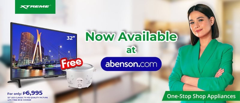 Buy your XTREME Appliances on Abenson online starting July 29 and get a FREE rice cooker