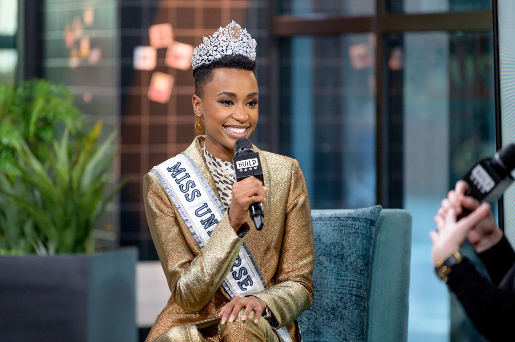 Zozibini Tunzi discusses Miss Universe with the Build Series at Build Studio on December 12, 2019 in New York City. (Photo by Roy Rochlin/Getty Images)