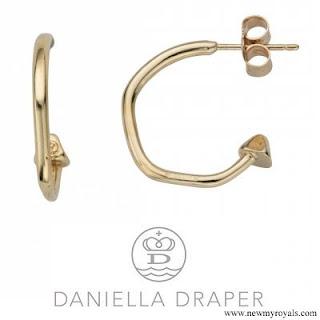 Kate Middleton accessorised with her Daniella Draper Cupid Hoop Earrings
