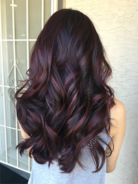 mahogany hair color balayage