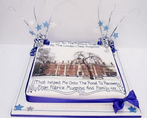Fabrice Muamba's thank-you cake for hospital staff