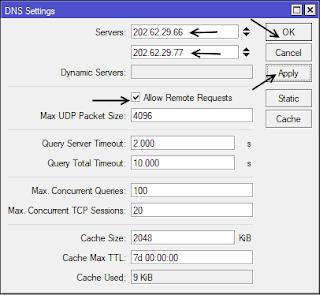 Konfigurasi DNS Mode GUI