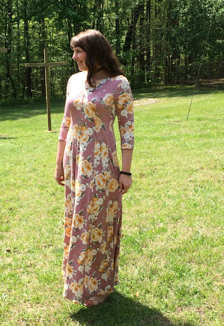 The blush floral maxi dress is a must have for your spring wardrobe!