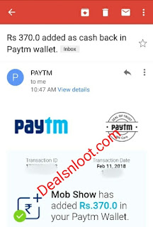 mob show app paytm proof