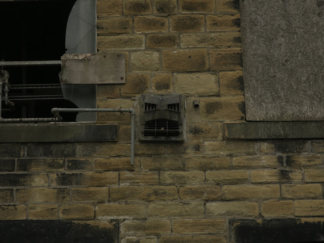 Vent in side of old mill that looks like Darth Vader. Has 'Patent Pending' imprinted. 20th August 2021