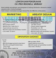 Lowongan Pekerjaan di CV. Pro Rocheel Variasi Surabaya Desember 2019