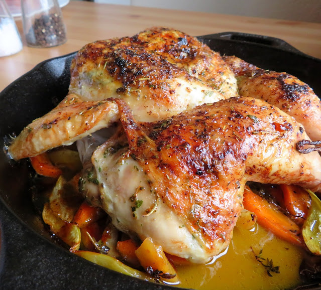 Roasted Spatchcock Chicken