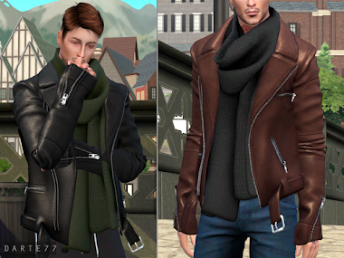 Biker Jacket with Scarf (Male/Female) - Early Access