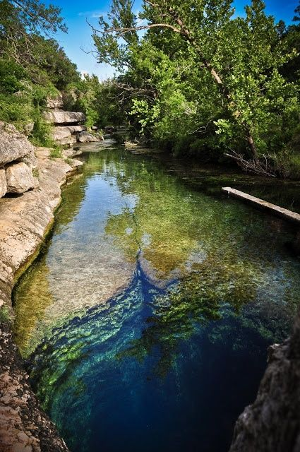 Jacob's Well, just outside of Austin. It is one of the longest underwater caves in Texas and an artesian spring.