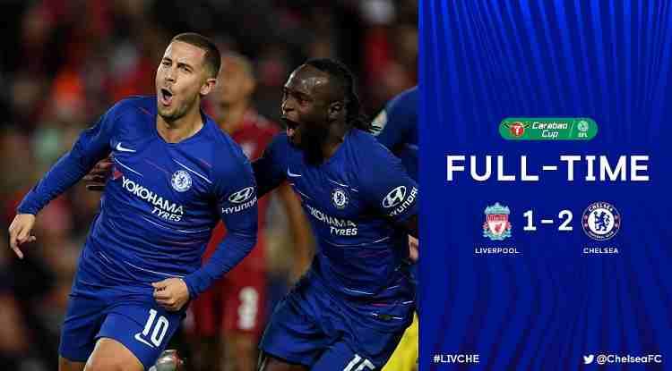 Hasil Liverpool vs Chelsea Skor Akhir 1-2