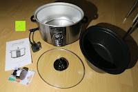 ausgepackt: Andrew James 3,5L Sizzle to Simmer 2 in 1 Digitaler Schongarer mit Entnehmbarer Aluminiumbratpfanne – Zum Braten, scharf Anbraten, Sautieren und Dämpfen – 2 Jahre Garantie