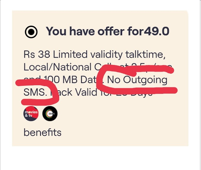 Rs.129 recharge mandatory for any outgoing sms