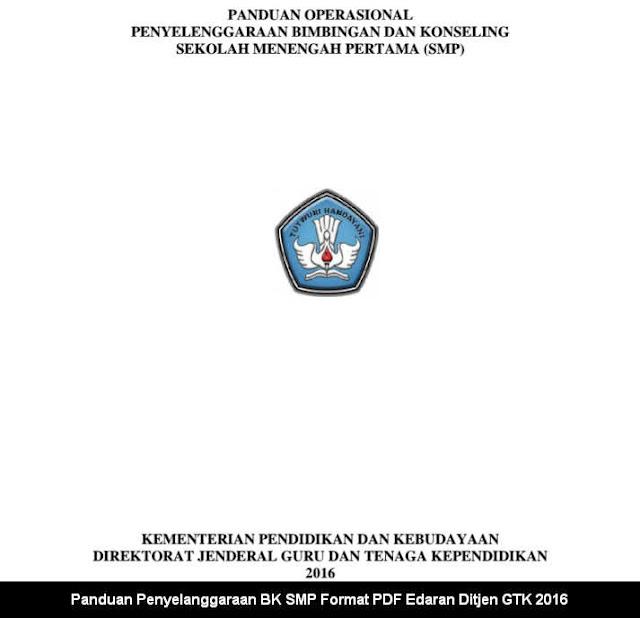 Panduan Penyelanggaraan BK SMP PDF Edaran Ditjen GTK 2016