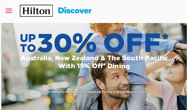 【閃促】Hilton希爾頓澳新南太平洋地區促銷優惠低至七折 還能享餐飲八五折(03/20前預訂~10/11前入住)