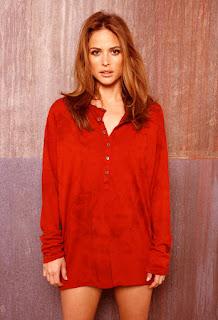 Josie Maran In Red Shirt