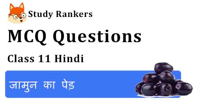 MCQ Questions for Class 11 Hindi Chapter 8 जामुन का पेड़ Aroh