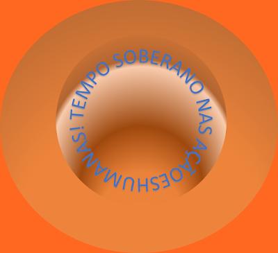 A imagem num formato de um túnel do tempo e na entrada do túnel está escrito: tempo soberano nas ações humanas.